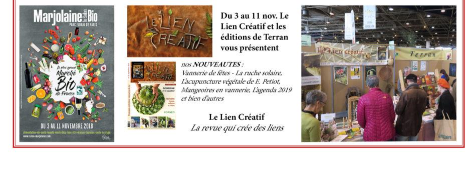"""Le Lien Créatif – TERRAN Magazines à """"Marjolaine bio"""""""